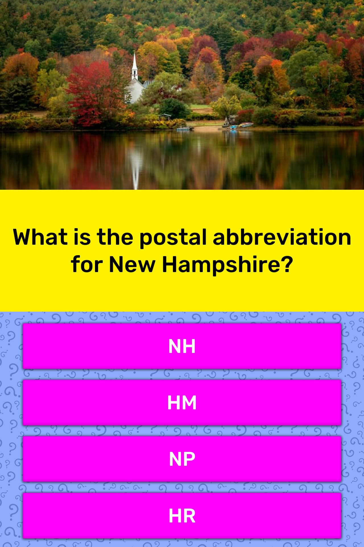 What is the postal abbreviation for    | Trivia Answers