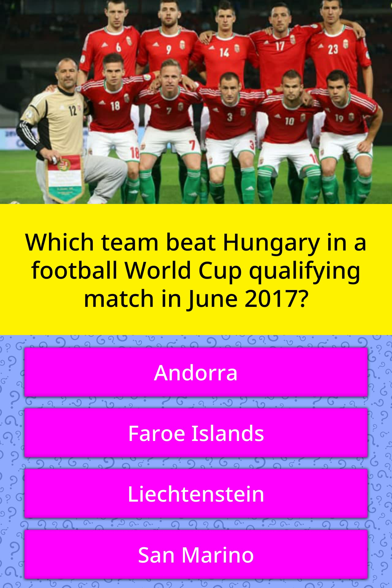 which team beat hungary in a trivia answers quizzclub. Black Bedroom Furniture Sets. Home Design Ideas