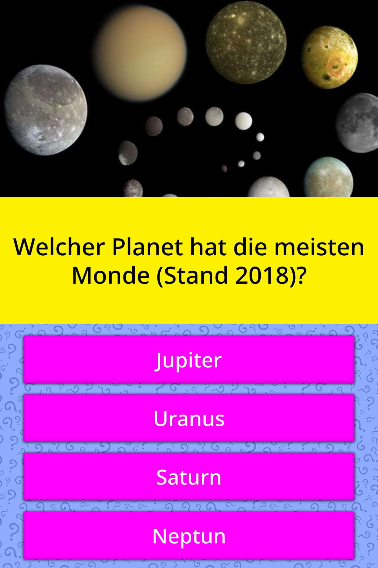 Welcher Planet Hat Die Meisten Monde