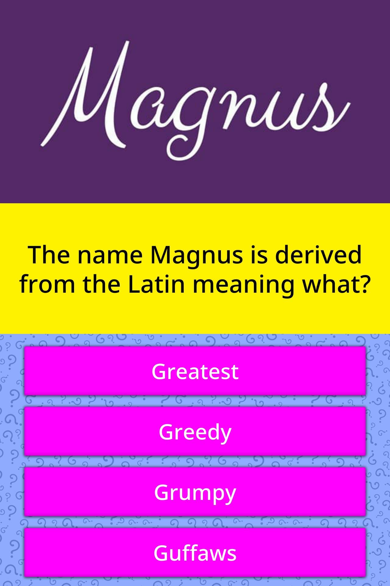 Magnus Name