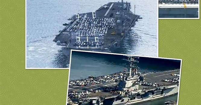 Society Trivia Question: What are these vehicles doing on board the nuclear-powered aircraft carrier USS Ronald Reagan?
