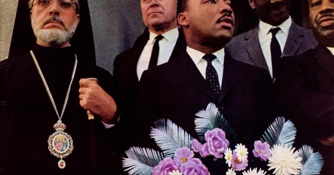 Society Trivia Question: Who is pictured on the far left of this image beside Martin Luther King, Jr.?
