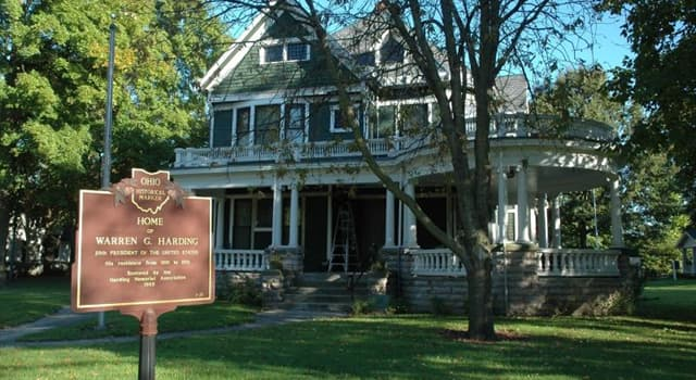History Trivia Question: What is the birthplace of former U.S. President Warren G. Harding?