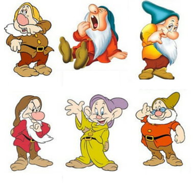 Which of the seven dwarfs is missing from this picture?