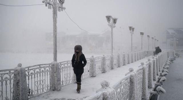 Sociedad Pregunta Trivia: ¿En dónde se registró la temperatura más baja del mundo, exceptuando la Antártida?