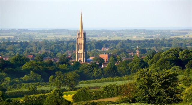 History Trivia Question: In which Lincolnshire town is England's highest Anglican church spire?