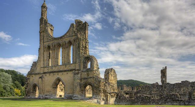 History Trivia Question: The remains of Byland Abbey, founded in the 12th century, can be found in which English National Park?