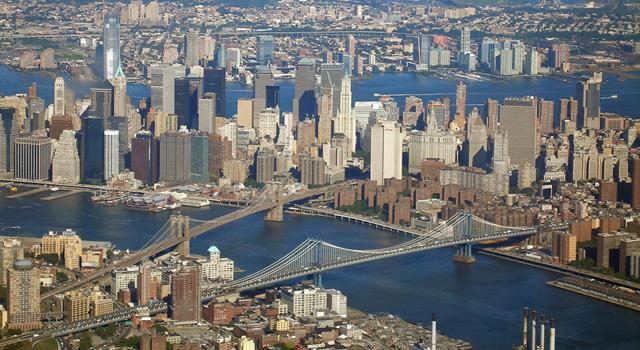Geography Trivia Question: What is located at 350 Fifth Avenue, New York?