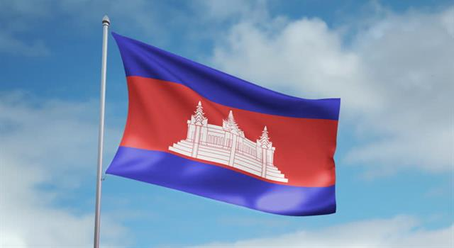 History Trivia Question: When was the present Cambodia flag originally adopted?