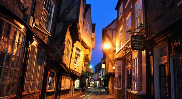 History Trivia Question: In 1872 how many butcher shops were located along 'The Shambles' in the city of York, England?