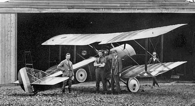 History Trivia Question: In what year did the British single-seater biplane fighter aircraft the 'Sopwith Pup' enter service?