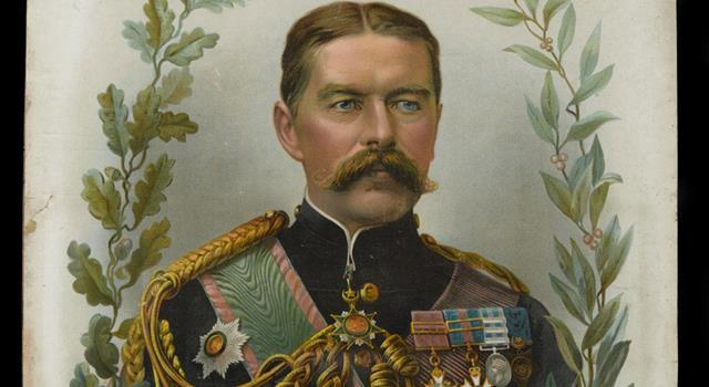 History Trivia Question: On which ship, did Lord Kitchener lose his life, when it was sunk after hitting a German mine?