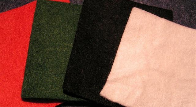 Sociedad Pregunta Trivia: ¿Qué tipo de tela hecha con lana o pelo no es tejida?