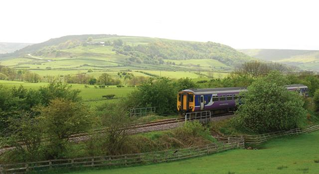 Geography Trivia Question: The Esk Valley railway line runs from Middlesbrough to which Yorkshire seaside town in England?