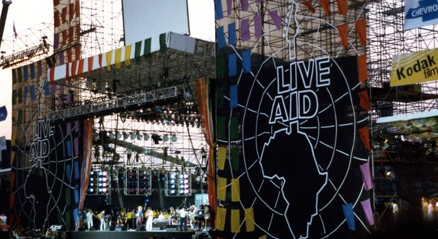 "Movies & TV Trivia Question: The seventeen hour rock and roll charity event ""Live Aid"" was broadcast live on MTV and ABC from London, England and from which U.S. city?"