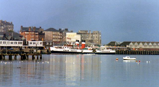 History Trivia Question: What is the name of the Clyde steamer that is the last sea-going paddle steamer in the world?