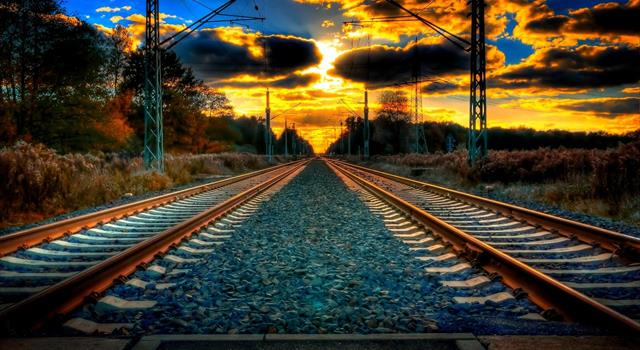 History Trivia Question: What name is given to the metal bar that connects the ends of railway rails?