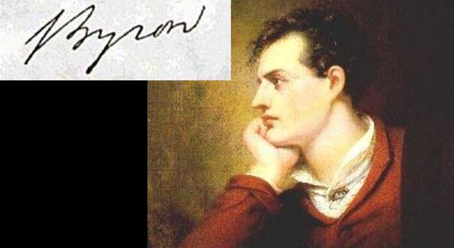 Culture Trivia Question: What were the first names of the poet Lord Byron?