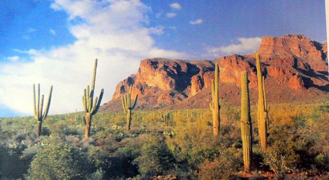 Geography Trivia Question: Where are the Superstition Mountains located?
