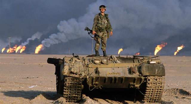 History Trivia Question: Which country did Iraq invade sparking off the first Gulf War?