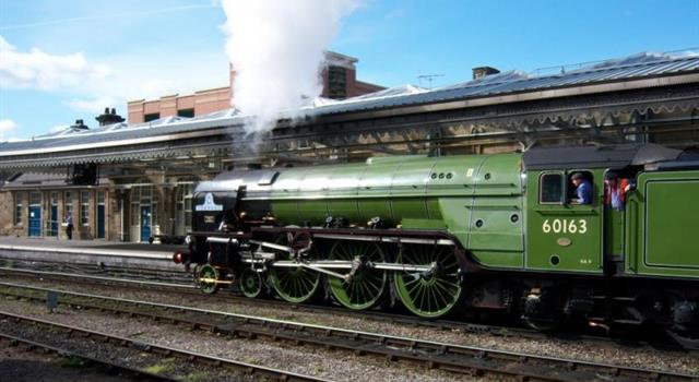 History Trivia Question: Which steam locomotive was the first to be recorded at 100 MPH?