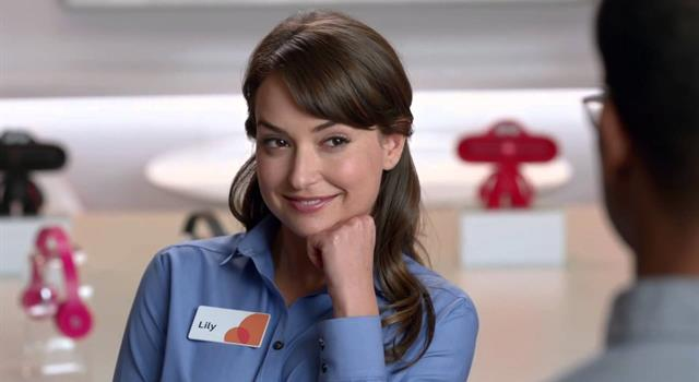 """Movies & TV Trivia Question: Who portrays """"Lily Adams"""" on a series of AT&T commercials run on US television starting in 2013?"""