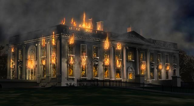 History Trivia Question: Who set the White House on fire?