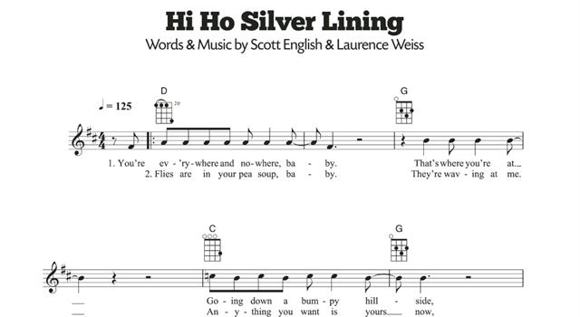 History Trivia Question: Who was first into the charts with the song 'Hi-Ho Silver Lining'?