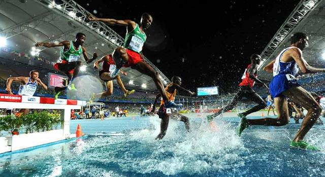 Sport Trivia Question: Who was the first athlete to run a 3000 metre steeplechase in under 8 minutes?