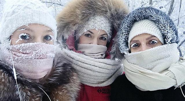 Nature Trivia Question: At what temperature are school children in Oymyakon, Russia permitted to stay home because of the cold?