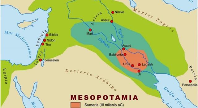 """Historia Pregunta Trivia: ¿Cuales eran los rios que delimitaban la """"Mesopotamia"""" mencionada por los historiadores de la antiguedad?"""