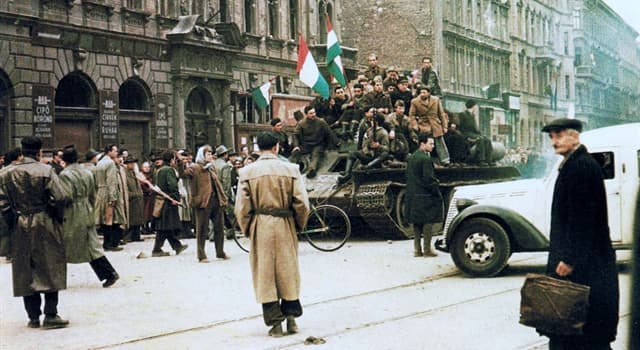History Trivia Question: In which year did the Hungarian Revolution take place?