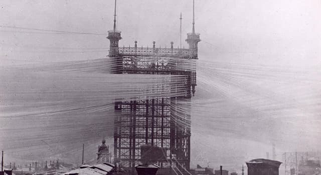 History Trivia Question: In which year was the Old Stockholm telephone tower demolished?