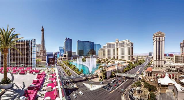"Geography Trivia Question: On the U.S. TV series ""Vega$"", Dan Tanna's  home and office are located on the grounds of which Las Vegas strip resort?"