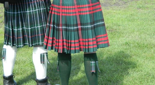 Cultura Pregunta Trivia: ¿Qué nombre recibe la tradicional falda escocesa?