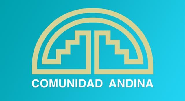 Geografía Pregunta Trivia: ¿Qué países conforman la Comunidad Andina?