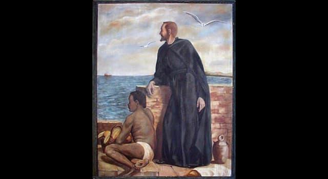 """Historia Trivia: ¿Qué sacerdote y misionero fue conocido como """"esclavo de los negros"""" por su dedicación a paliar el sufrimiento de los esclavos en Cartagena de Indias?"""