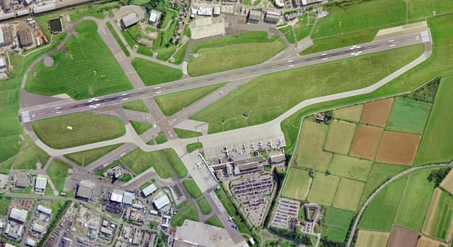Geography Trivia Question: Where is Aberdeen's Airport located?