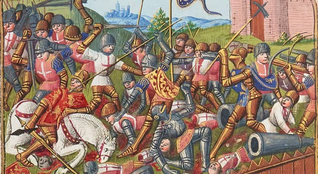 History Trivia Question: Which was a French victory during the Hundred Years War?