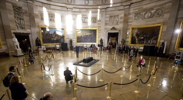 History Trivia Question: Who was the first black American private citizen to lie in honor in the Rotunda of the U.S. Capitol?