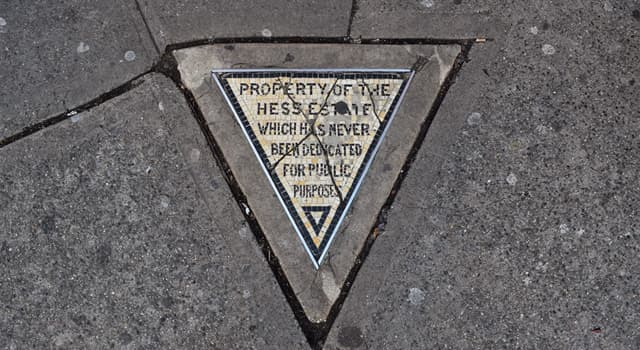 History Trivia Question: As of 2017, where in New York City was the Hess Triangle located?