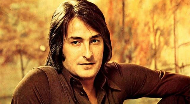 Sociedad Pregunta Trivia: ¿Cuál de las siguientes canciones de Nino Bravo salió a la venta después de su muerte?