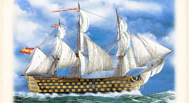 History Trivia Question: Ferdinand Magellan began his voyage around the world with five ships. Which ship did he command?
