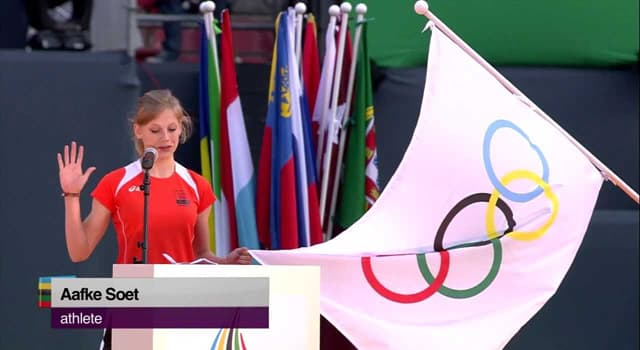 Sport Trivia Question: In which Olympics was the first Olympic Oath taken?