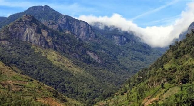 Geography Trivia Question: What is the highest point in Sri Lanka?