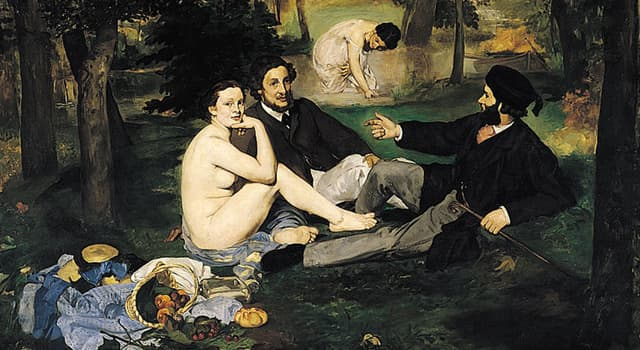 History Trivia Question: When did the Salon de Paris reject Édouard Manet's painting 'Luncheon on the Grass'?