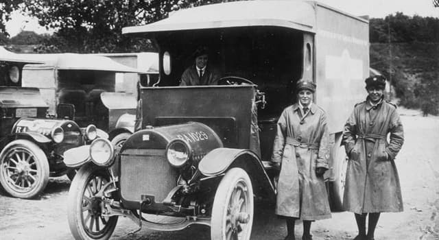History Trivia Question: Where was the first motorized ambulance introduced?