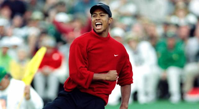 Sport Trivia Question: Who caddied for Tiger Woods when he won his first major golf tournament?