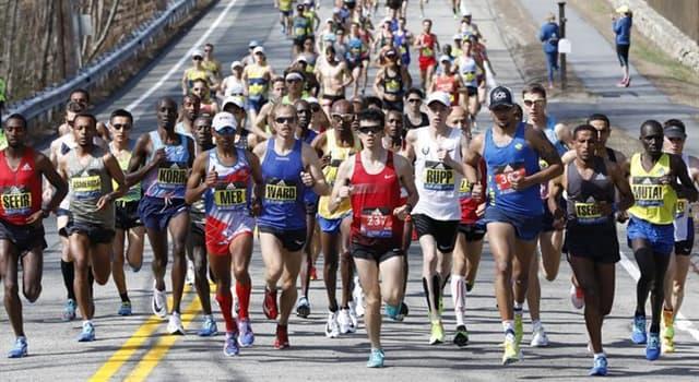 History Trivia Question: Who won the first Boston Marathon?
