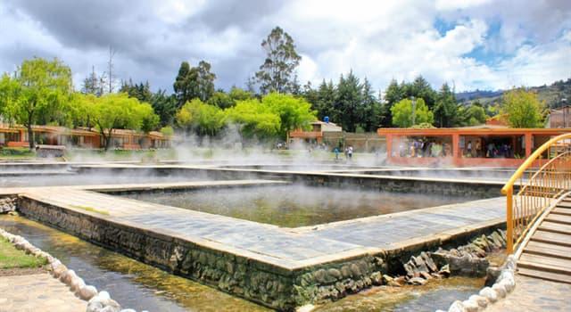 Geografía Pregunta Trivia: ¿Dónde están ubicados los Baños del Inca ?